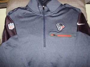 NFL Houston Texans Nike Dri-Fit Elite Coaches 1 2 Zip Golf Jacket ... 9eaa0320f