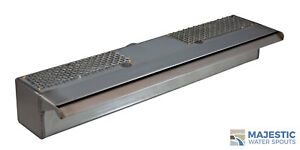 """SUTTON 18"""" SMOOTH WATER FOUNTAIN WATERFALL SPILLWAY SCUPPER - STAINLESS STEEL"""