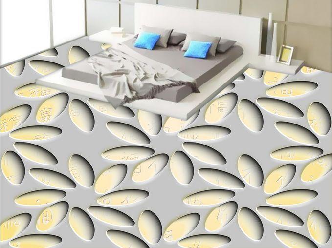 3D Carving Flower Art Floor WallPaper Murals Wall Print Decal 5D AJ WALLPAPER