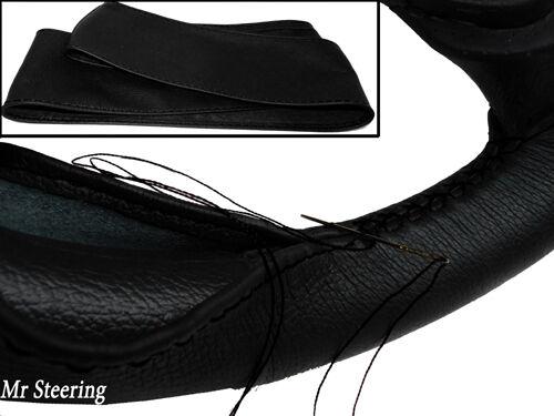 Pour peugeot bipper réel italien noir volant en cuir couverture 2008-2014