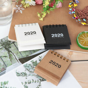 2020Desk-Coil-Calendar-Mini-Table-Calendars-DIY-Memo-planner-Schedule-schoolPAP