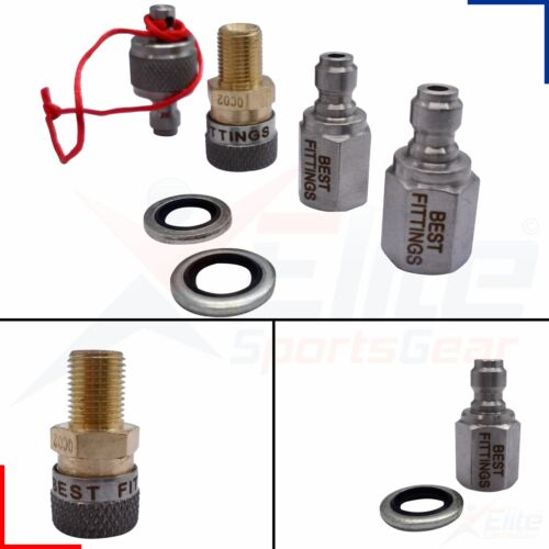 Best Fittings Quick Coupler Filling//Charging Adaptor Kit for Air Rifles