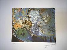 Salvador Dali Litografia 50 x 65 Bfk Rives Timbro Secco Firma Matita PROMO 19 €