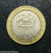 2001-15~~Chile~~100 PESOS~~Obv:Mapuche Indian Woman ~~Collectors Bi-Metal Coin