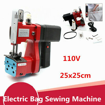 Industrial Portable Electric Bag Stitching Sack Closer Seal Sewing+Needles 110V
