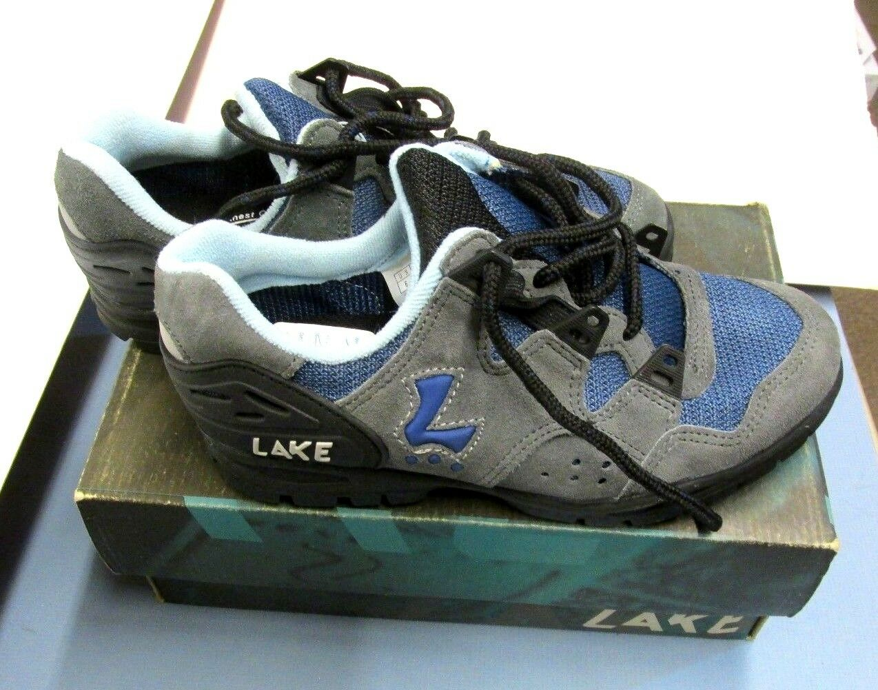 LAKE MX 100 CYCLING MOUNTAIN SHOES WOMEN'S blueE  GREY US SIZE 6 NEW ()  online shopping and fashion store