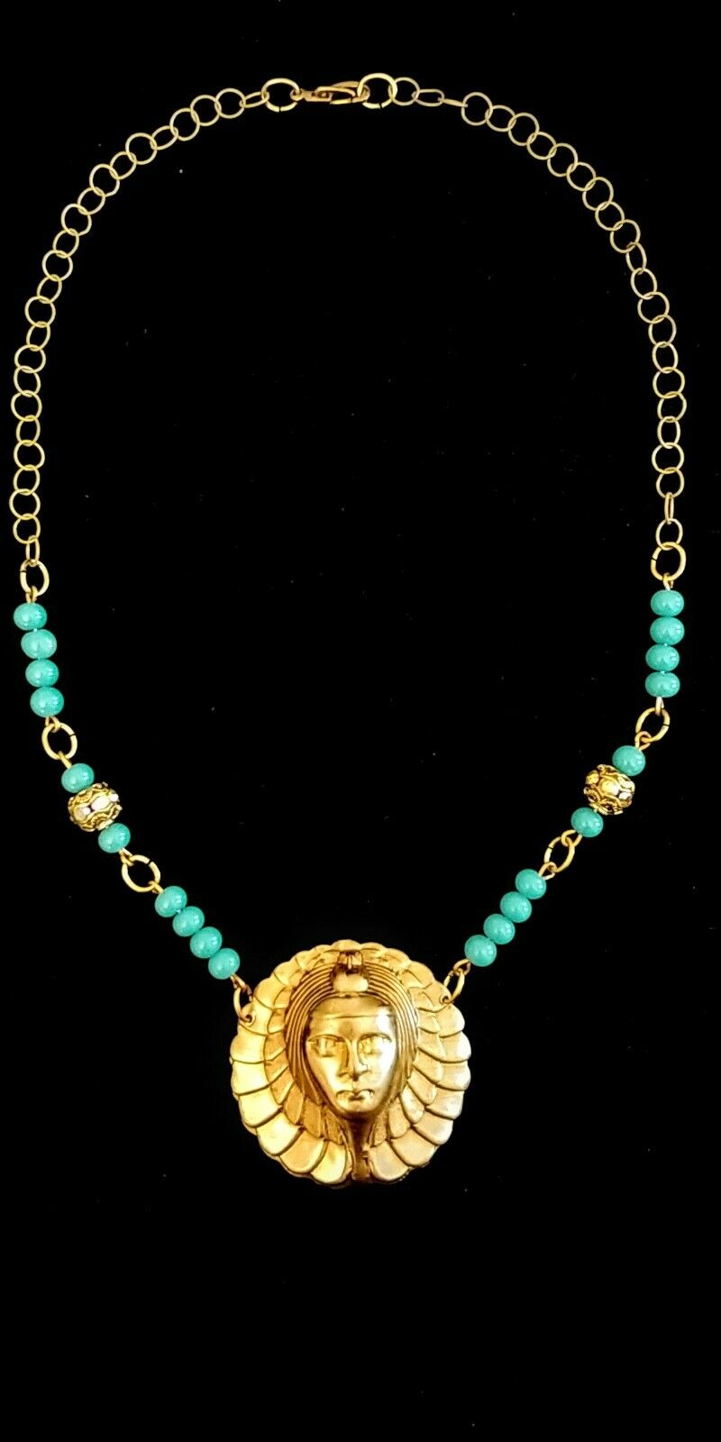 Vintage Egyptian Revival Necklace - image 2