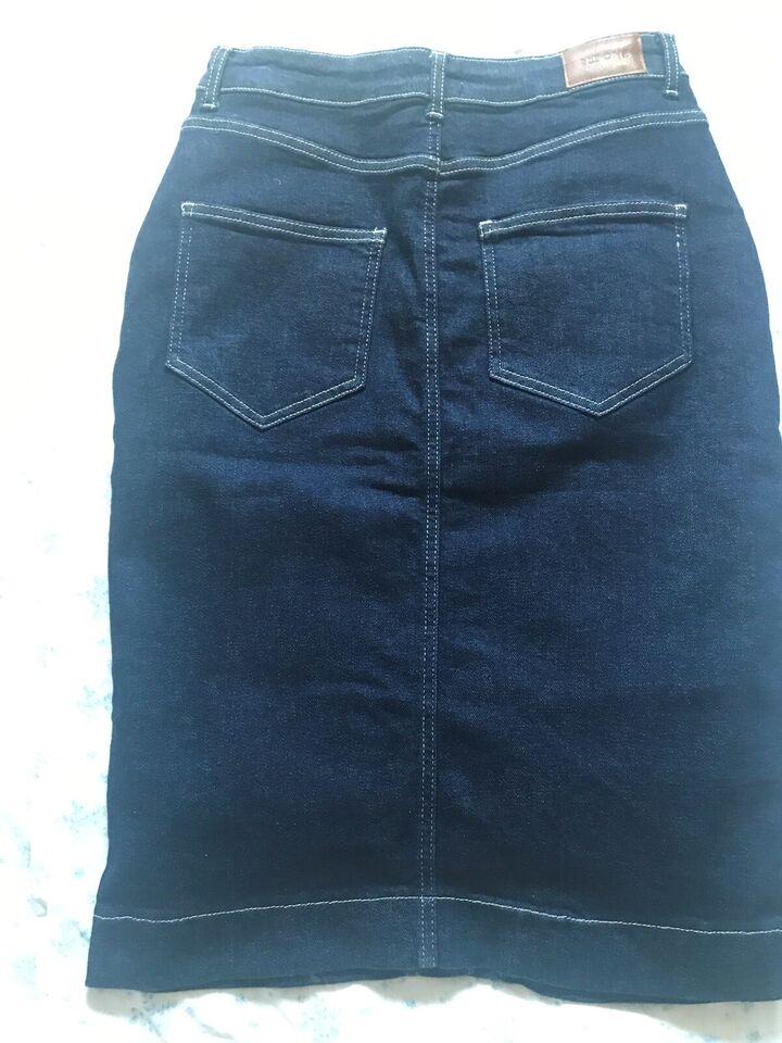Jeans nederdel, str. 42, 2nd One