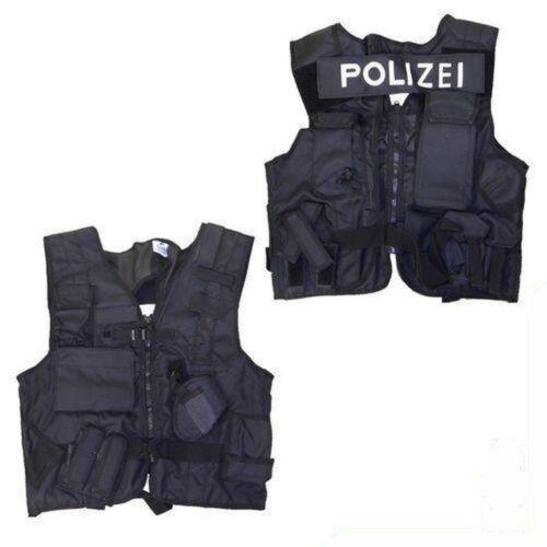 POLIZEI Einsatzweste GSG 9 KSK taktische Weste SEK NEU Polizeieinsatz schwarz