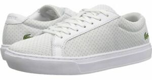 Lacoste-L-12-12-Lightweight-118-1-CAM-White-Canvas-Sneakers-Mens-US-10-5-BNIB