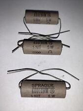 Sprague Koolohm 2000 Ohm Non Inductive 5 Watt Resistors New 3 Pack