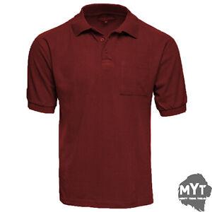 Rugby Shirt Herren 100/% Baumwolle Einfarbig Kurzärmelig Neu Qualität