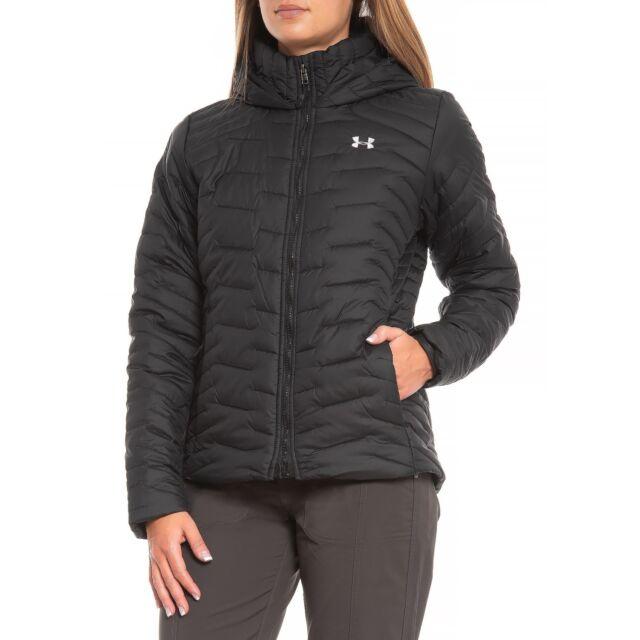 Under Armour Women/'s Reactor ColdGear Hooded Jacket insulated puffer coat