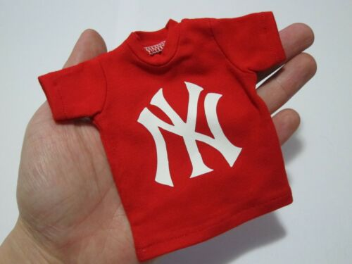 """1//6 Scale Tee Red Short Sleeves T-Shirt NY For 12/"""" Action Figure"""