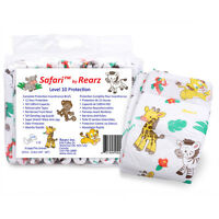 Sealed Package Of 10-12 Diapers - Rearz Safari - Small To Xlarge -plastic- Abdl