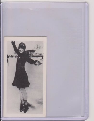 RARE UNITED KINGDOM 1979 BROOKE BOND SONJA HENIE OLYMPIC SKATING CARD #38