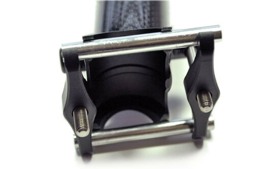 OMNI Racer WORLDS LIGHTEST Race-Lite Full Carbon Ti Straight Seatpost 31.6x350mm