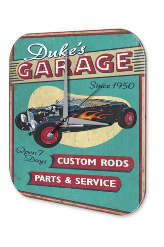 Wall Clock Vintage Car Decoration  Dukes workshop Acryl Acrylglass