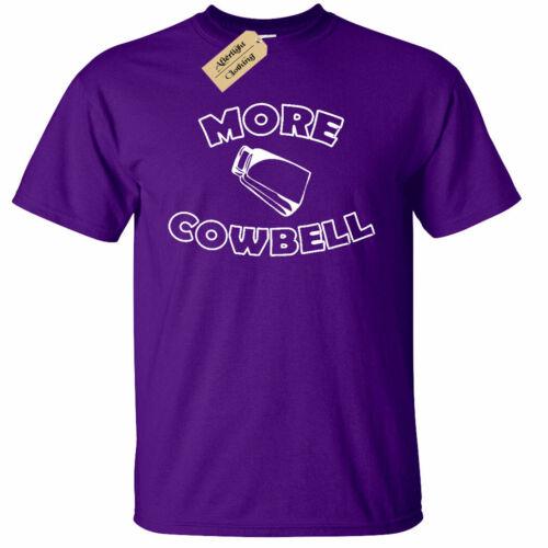 Mens More Cowbell Funny Saturday Night Tv Show T-Shirt Farmer