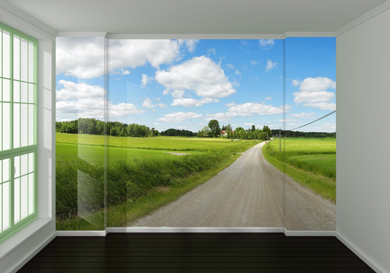 3D Feldweg Landschaft 69 Tapete Tapeten Mauer Foto Familie Tapete Wandgemälde DE