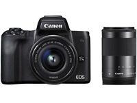Artikelbild CANON EOS M50 Kit Systemkamera 24.1 MP mit Objektiv 15-45 mm, 55-200 mm f/6.3
