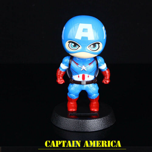 Car Decoration Accessory Toy Captain America Shaking The Head Dashboard Doll Nod