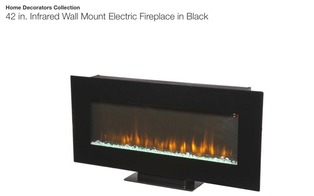 Home Decorators Collection 46 In Tv Stand Infrared Electric Fireplace Walnut For Sale Online Ebay
