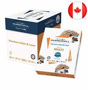 Hammermill Printer Paper, Premium Inkjet & Laser Paper 24 lb, 8.5 x 11 - 5 Ream
