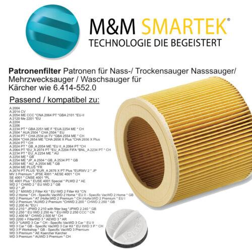 CARTUCCE-Filtro per ORIGINALE Kärcher a 2604 a 2654 me