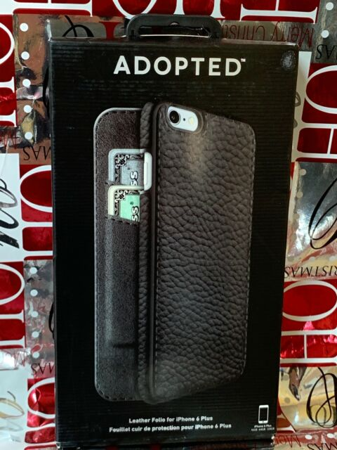 the latest edf41 27e17 ADOPTED Leather Folio Card Case for Apple iPhone 6 & 6s Plus Black APH13131  Very Good