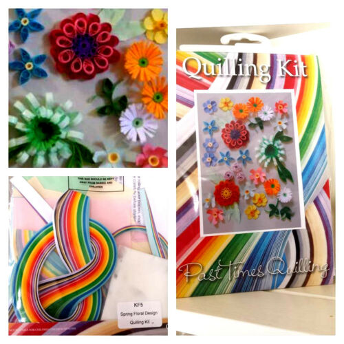 """box blanks /& tools /""""Spring Floral/"""" KF5 complete paper quilling craft kit cards"""