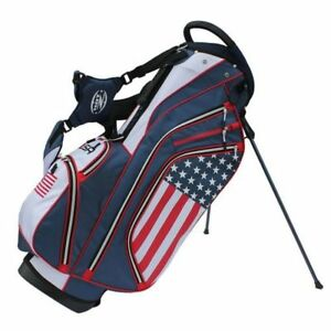 Image Is Loading Hot Z Usa Flag Stand Golf Bag
