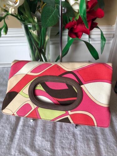 Emilio Pucci foldover clutch bag purse  (800