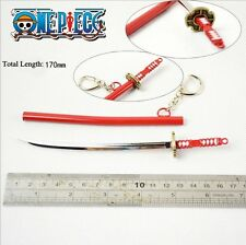 17cm anime one piece Roronoa Zoro Cosplay Alloy sword pendant Keychain gifts