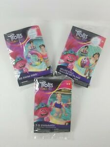 NEW-Trolls-World-Tours-Inflatable-Bundle-Beach-Ball-Arm-Floaties-and-Swim-RIng