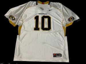 Details about Missouri Tigers Chase Daniel 10 Nike Mens Practice Jersey White V Neck XL