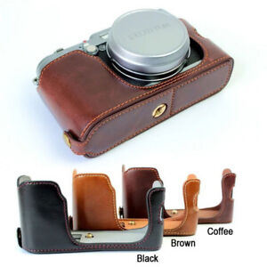 Leather-Half-Case-Grip-for-FUJIFILM-FUJI-Finepix-X100-X100s-X100t-Camera