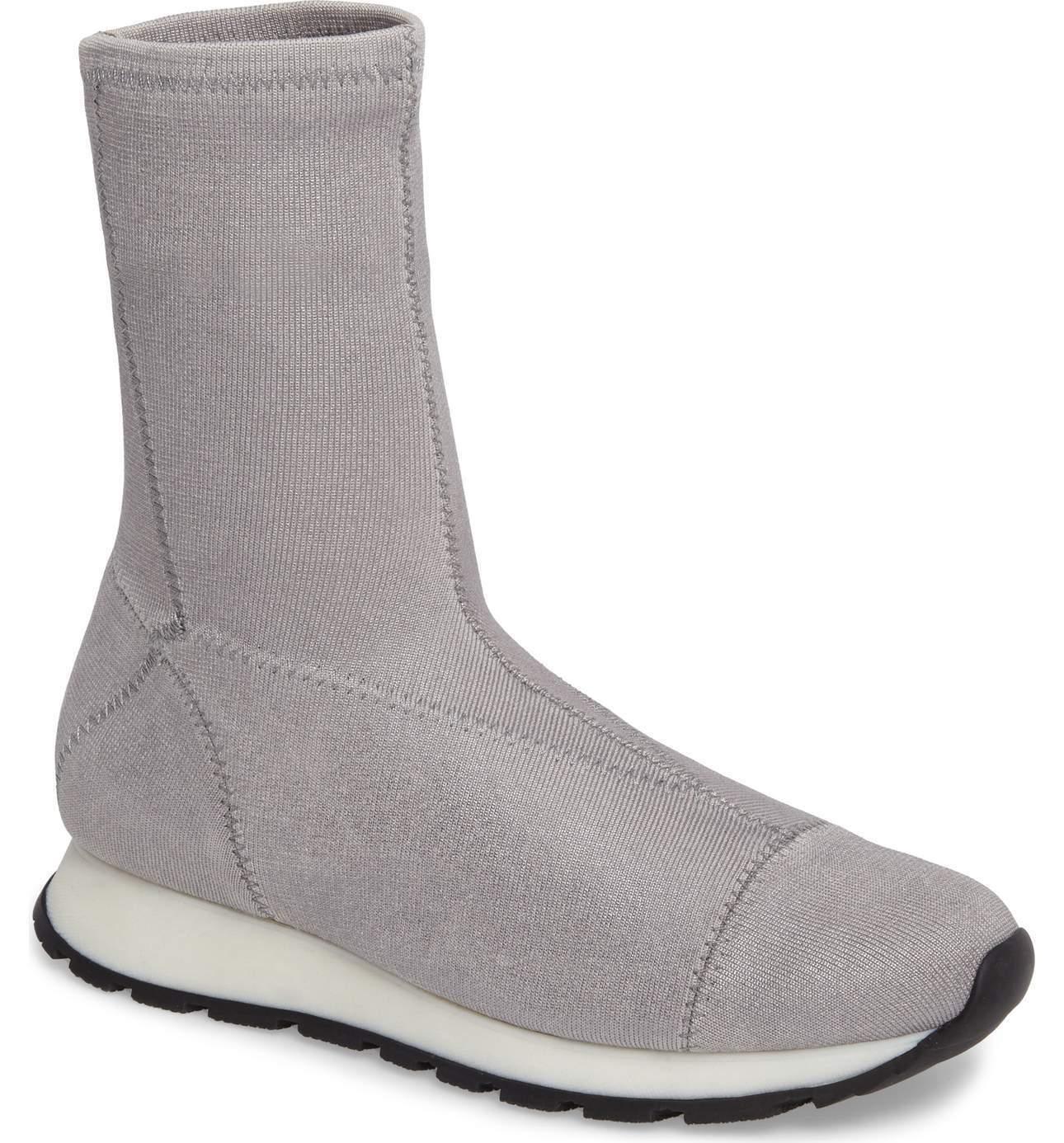 Free People Para mujeres Tenis botas Astral Tire De Punto Punto Punto gris Plata EU 39 nos 8-8.5  diseño único