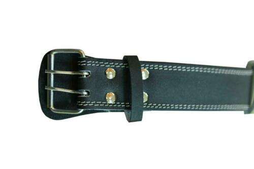 Genuine Leather Weight Lifting Belt 6 Inches Wide Powerlifting Belts Black