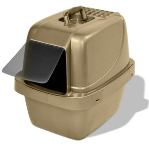 Cat Litter Box Pan Enclosed Hooded Jumbo Giant Covered Kitty House Extra Large