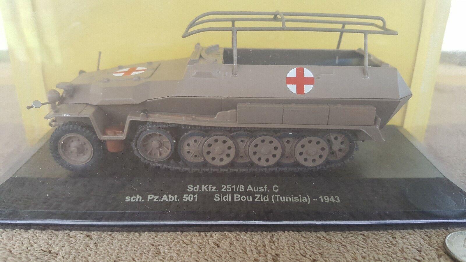 IXO MODELS Sd.Kfz251 8 Ausf.C sch.Pz.Abt.501 Sidi Bou Zid Tunisia 1943 TANK 1 43