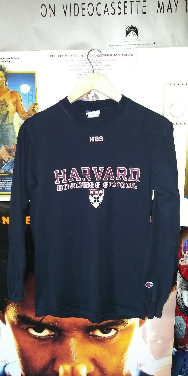 Vtg Champion Brand Harvard University Business School Long Sleeve Shirt Small 2
