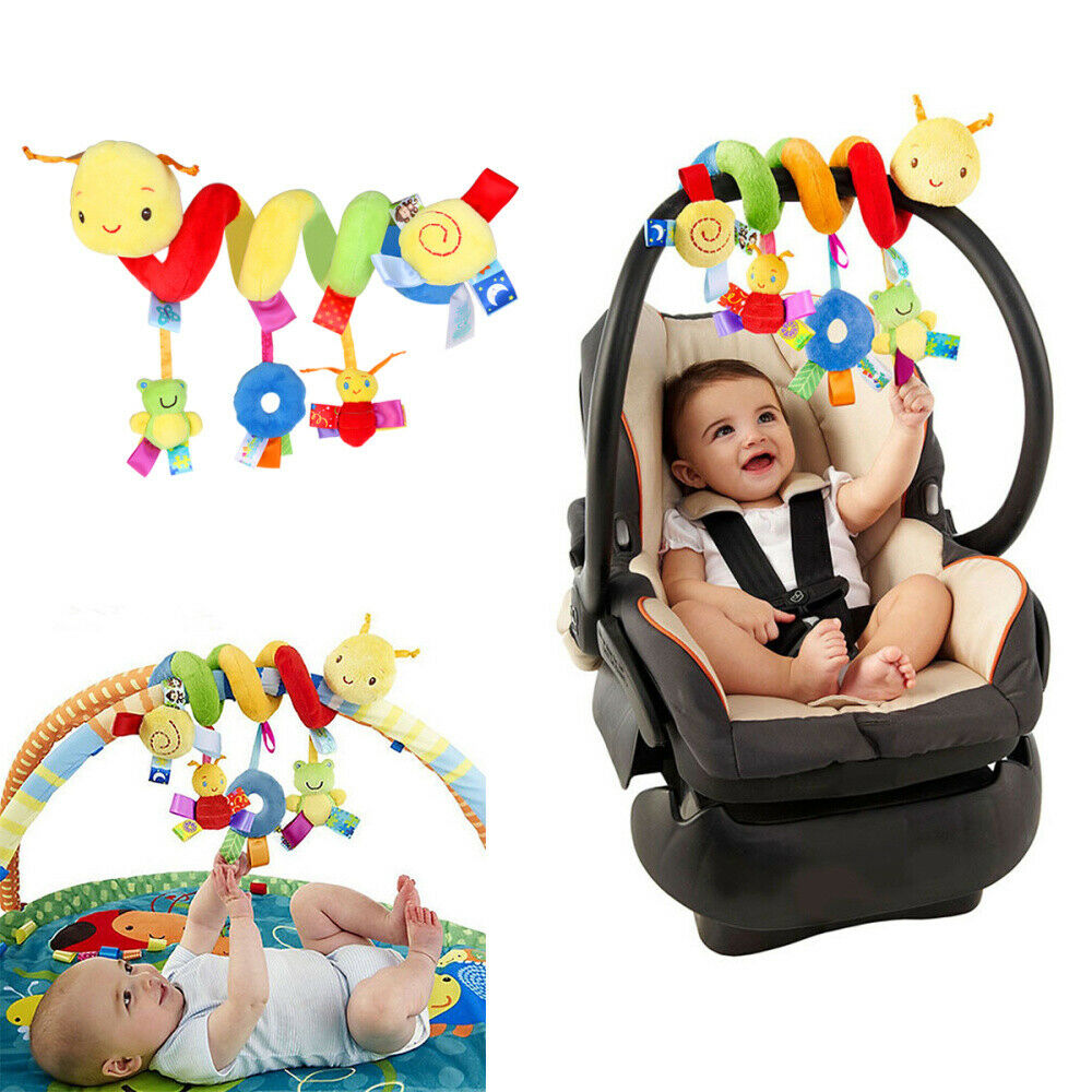 BUNRUN Baby Spiral Activity Hanging Toys Stroller toys Cart Seat Pram Toy Hanging Stuffed Wrap Spiral Safety Toys for Crib Mobile