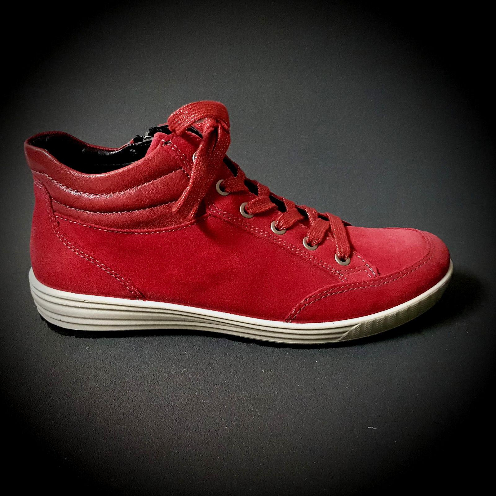 Ara cortos señora botas zapatos cuero rojo rojo rojo de cuero nuevo rojouce venta 49496  almacén al por mayor
