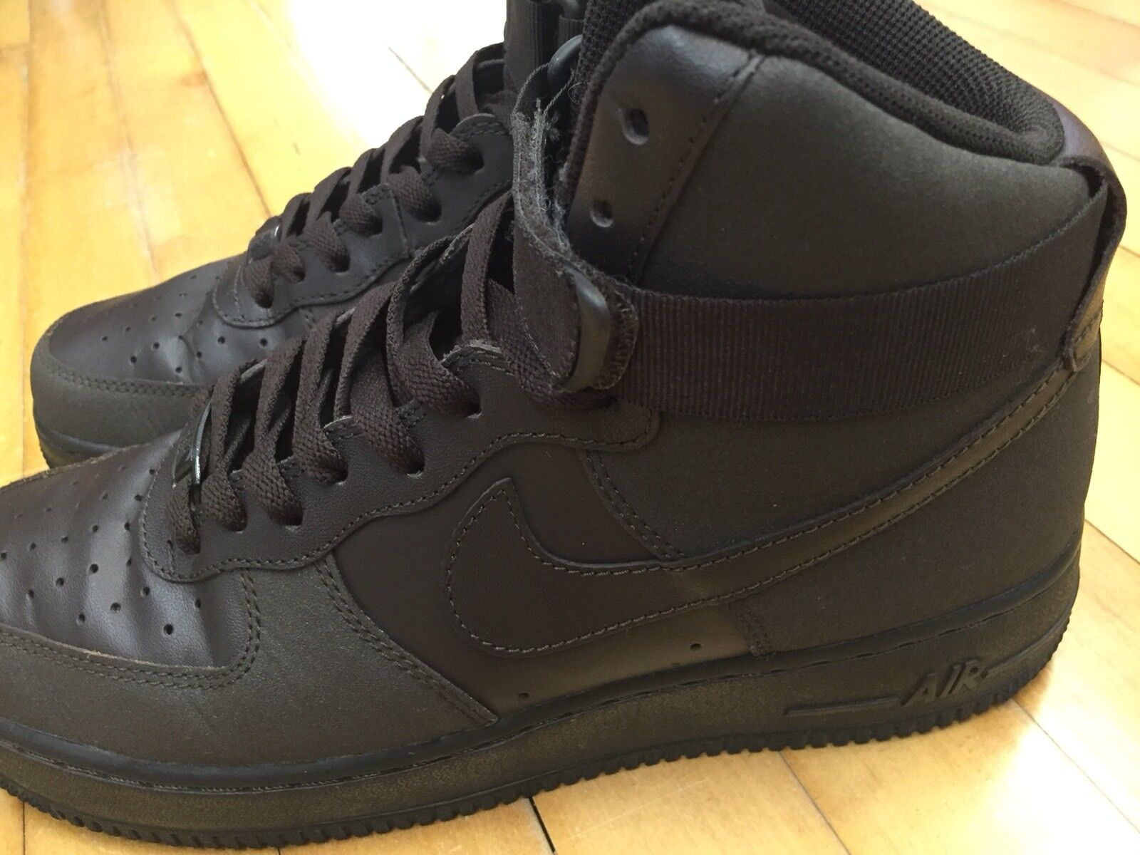 NIKE AIR FORCE ONE HIGH TOP SNEAKERS / MEN'S SHOES DARK BROWN SIZE 9.5