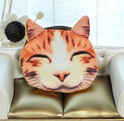 Cute Animal Cat Dog Face Zipper Coin Purse Wallet Makeup Bag Pouch Case  Womens