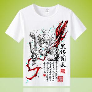Anime-The-Seven-Deadly-Sins-Unisex-Otaku-Casual-T-shirt-Tops-Short-Sleeve-Tee