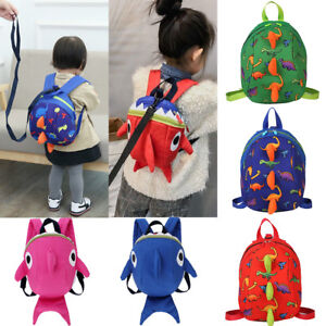 e89212aec73 Details about Kids Baby Safety Harness Backpack Leash Toddler Anti-lost  Dinosaur Shark Bag