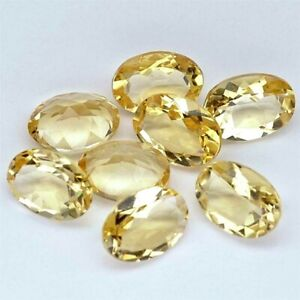 Wholesale-Lot-9x7mm-Oval-Facet-Natural-Citrine-Loose-Calibrated-Gemstone-Brazil