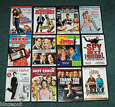 12 Assorted DVD Lot Romance Comedy Videos - Sandler, Stiller, De Niro DVDs